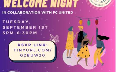 Undocu Welcome Night – September 1st